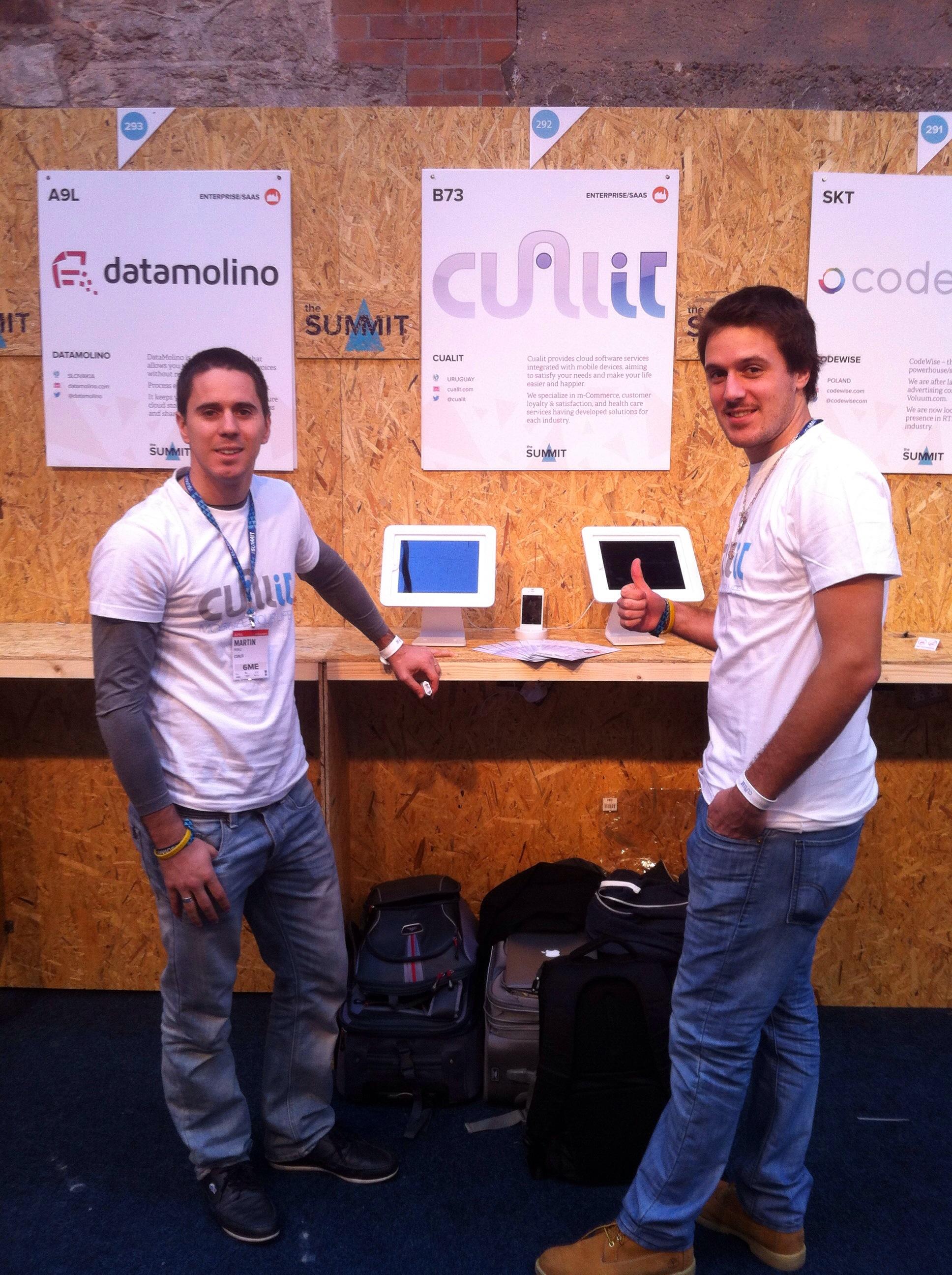Cualit Founders @ WebSummit 2013